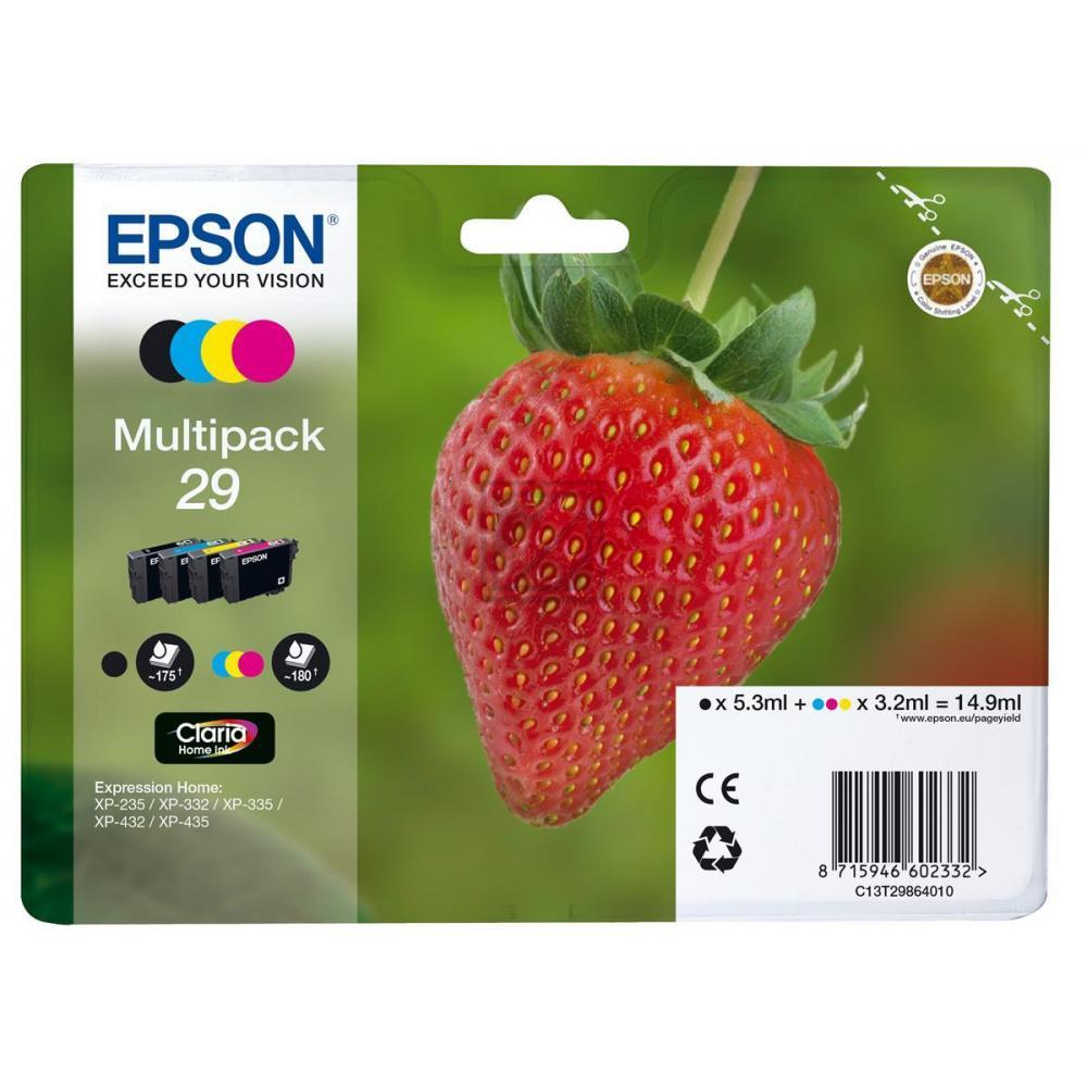 Original Epson C 13 T 29864012 / 29 Tinte Schwarz, Cyan, Magenta, Gelb (Original)