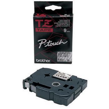 Brother Schriftbandkassette schwarz/transparent (TZE-121)