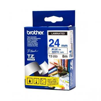 Brother Schriftbandkassette blau/weiß (TZE-253)