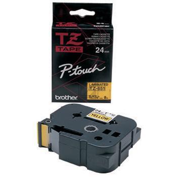 Brother Schriftbandkassette schwarz/gelb (TZE-651)