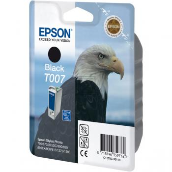Epson Tintenpatrone schwarz (C13T00740110, T007)