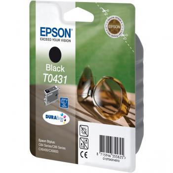 Epson Tintenpatrone schwarz HC (C13T04314010, T0431)