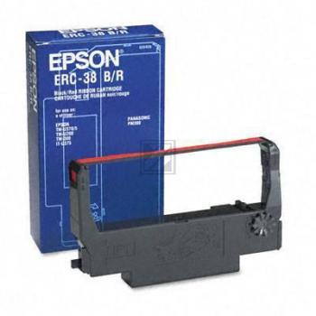 Epson Farbband Nylon schwarz/rot (C43S015376, ERC-38BR)