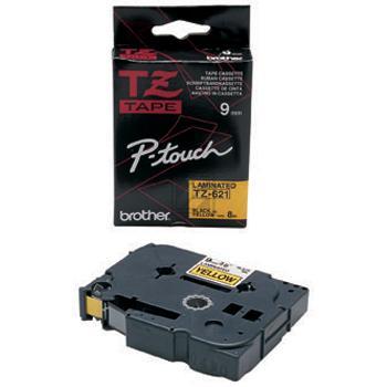 Brother Schriftbandkassette schwarz/gelb (TZE-621)