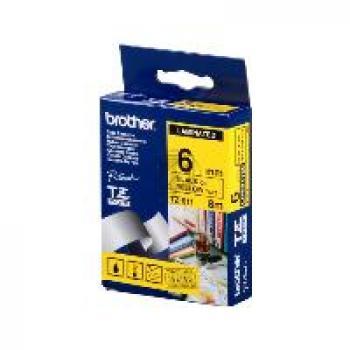 Brother Schriftbandkassette schwarz/gelb (TZE-611)