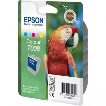 Epson Tintenpatrone cyan/gelb/magenta/light cyan/light magenta (C13T00840110, T008)