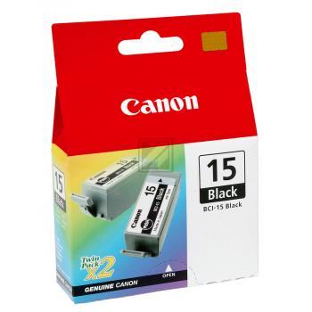 Canon Tintenpatrone schwarz 2-er Pack (8190A002, BCI-15BK)