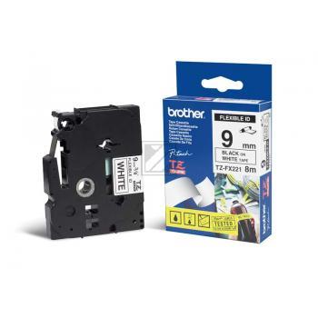 Brother Schriftbandkassette schwarz/weiß (TZE-FX221)