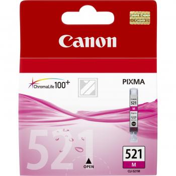 Canon Tintenpatrone magenta (2935B001, CLI-521M)