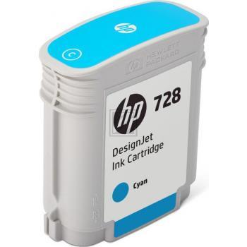 HP Tintenpatrone cyan (F9J63A, 728)
