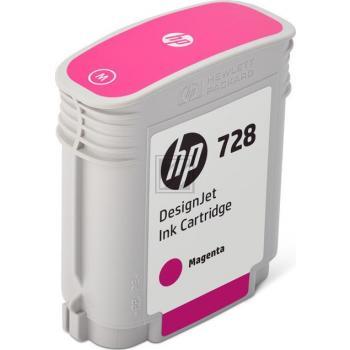 HP Tintenpatrone magenta (F9J62A, 728)