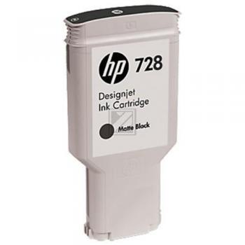 HP Tintenpatrone schwarz matt HC (F9J68A, 728)