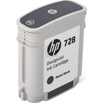 HP Tintenpatrone schwarz matt (F9J64A, 728)