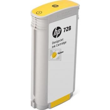 HP Tintenpatrone gelb HC (F9J65A, 728)