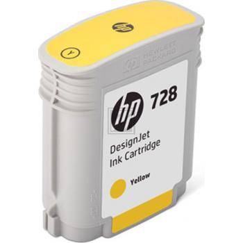 HP Tintenpatrone gelb (F9J61A, 728)