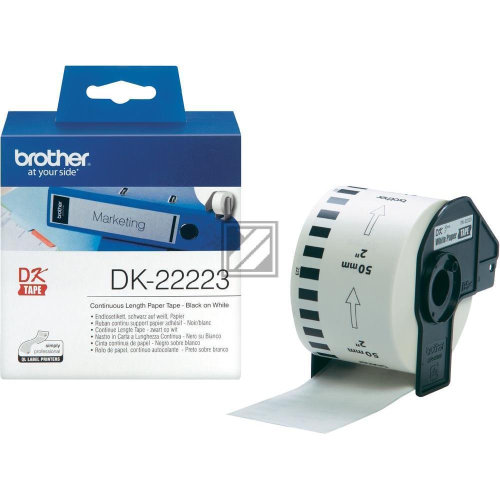 Brother Endlos-Etikett weiß (DK22223)