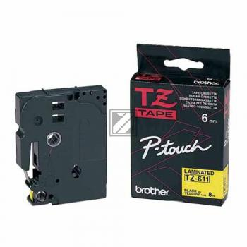 Farbband f. Brother P-touch 12mm [TZE-435] weiss/rot