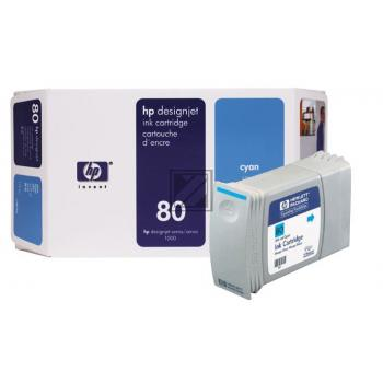 HP Tintenpatrone cyan HC (C4846A, 80)