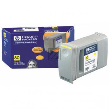 HP Tintenpatrone gelb (C4873A, 80)