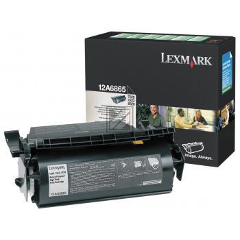 Lexmark Toner-Kartusche Prebate schwarz HC (12A6865)