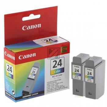 Canon Ink-Cartridge 2 x cyan/yellow/magenta 2 Pack (6882A009, BCI-24C/TWIN)