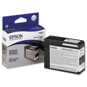 Epson Tintenpatrone Photo-Tinte Ultra Chrome K3 photo schwarz (C13T580100, T5801)