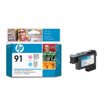 HP Tintendruckkopf magenta light/cyan light (C9462A, 91)