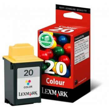 Lexmark Tintendruckkopf cyan/gelb/magenta HC (15MX120, 20)