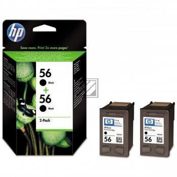 HP Tintendruckkopf 2x schwarz HC (C9502AE, 2x 56)