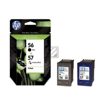 HP Tintenpatrone cyan/gelb/magenta schwarz HC (SA342AE, 56 57)