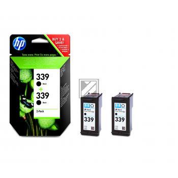 HP Tintenpatrone 2x schwarz HC (C9504EE, 2x 339)