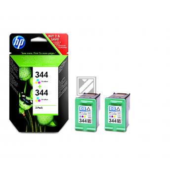 HP Tintenpatrone 2x cyan/gelb/magenta HC (C9505EE, 2x 344)