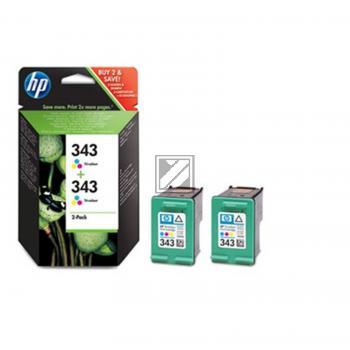 HP Tintenpatrone 2x cyan/gelb/magenta (CB332EE, 2x 343)