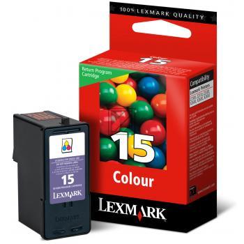 Lexmark Tintenpatrone Prebate 3-farbig (018C2110E 18C2110E, 15 15RP)