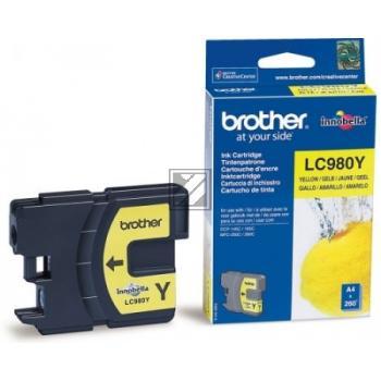 ORIGINAL Brother Tintenpatrone gelb LC980Y LC-980 ~260 Seiten