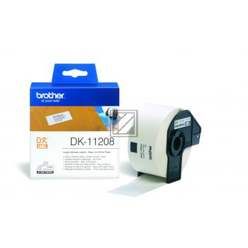 BROTHER P-Touch DK-11208 die-cut adress label big 38x90mm 400 labels [DK11208]