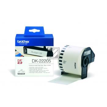 BROTHER P-Touch DK-22205 continue length Papier 62mm x 30.48m [DK22205]