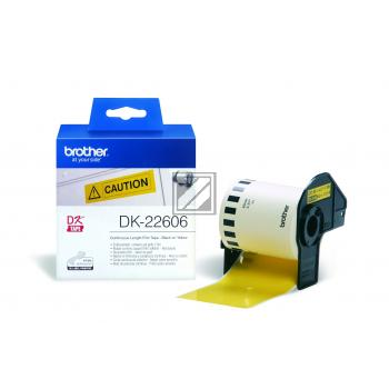 BROTHER P-Touch DK-22606 gelb continue length film 62mm x 15.24m [DK22606]