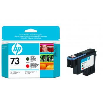 HP Tintendruckkopf schwarz matt/chromatisch-rot (CD949A, 73)