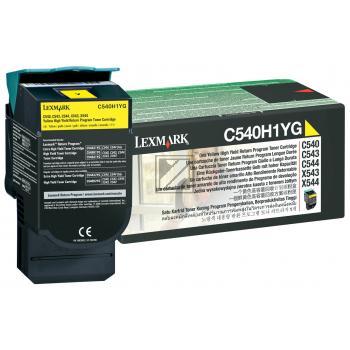 Lexmark Toner-Kartusche Prebate gelb HC (C540H1YG)