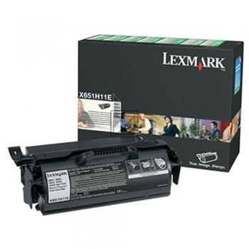 Lexmark Toner-Kartusche Prebate schwarz HC (X651H11E)