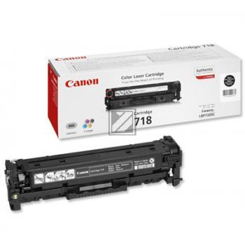 Canon Toner-Kartusche schwarz (2662B002, CL-718BK)