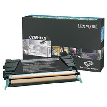 Toner f. Lexmark C736 [C736H1KG] HC black