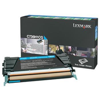 Lexmark Toner-Kartusche Prebate cyan HC (C736H1CG)