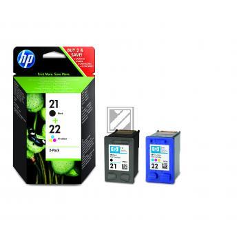 HP Tintendruckkopf cyan/gelb/magenta schwarz (SD367AE, 21 22)