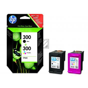 HP Tintendruckkopf cyan/gelb/magenta schwarz (CN637EE, 2x 300)