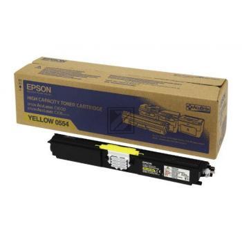 Epson Toner-Kit gelb HC (C13S050554, 0554)