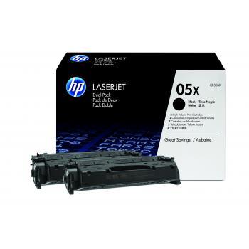 HP Toner-Kartusche 2x schwarz 2-er Pack HC (CE505XD, 05XD)