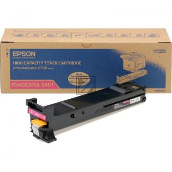 Epson Toner-Kit magenta (C13S050491, 0491)