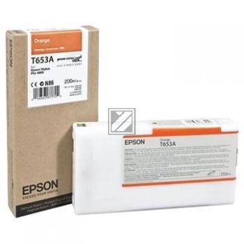 Epson Tintenpatrone Ultra Chrome Hdr orange (C13T653A00, T653A)
